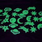 24 Piece Glow in the Dark Deep Space Theme