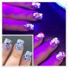 UV Blacklight Reactive Neon Glitter Nail Polish- Trouble Maker