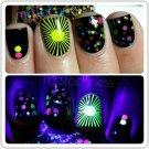 UV Blacklight Reactive Neon Glitter Nail Polish- Vegas Nights