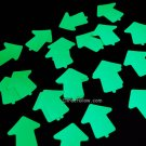 Glow in the Dark 2 inch Vinyl Arrow Stickers- 25 Pack