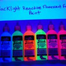 Tulip 6 Pack 1.25oz Assorted Neon Blacklight Reactive Fabric Paint Set