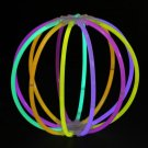 Set of 5 Assorted Glow Stick Ball- 60 sticks + 10 connectors