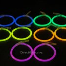 Assorted Glow Stick Clip On Hoop Earrings and Bracelets- 50 Pairs