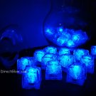 Set of 24 Blue Litecubes Brand Light up LED Ice Cubes