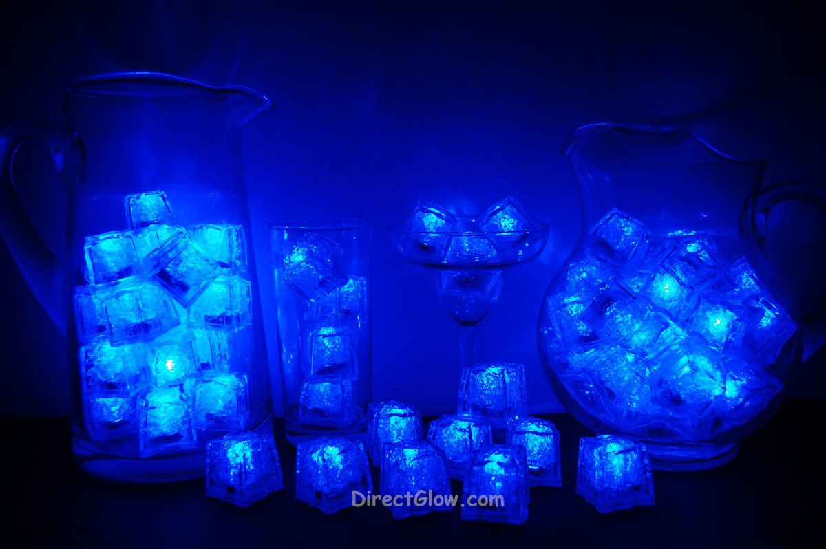 Set of 72 Blue Litecubes Brand Light up LED Ice Cubes