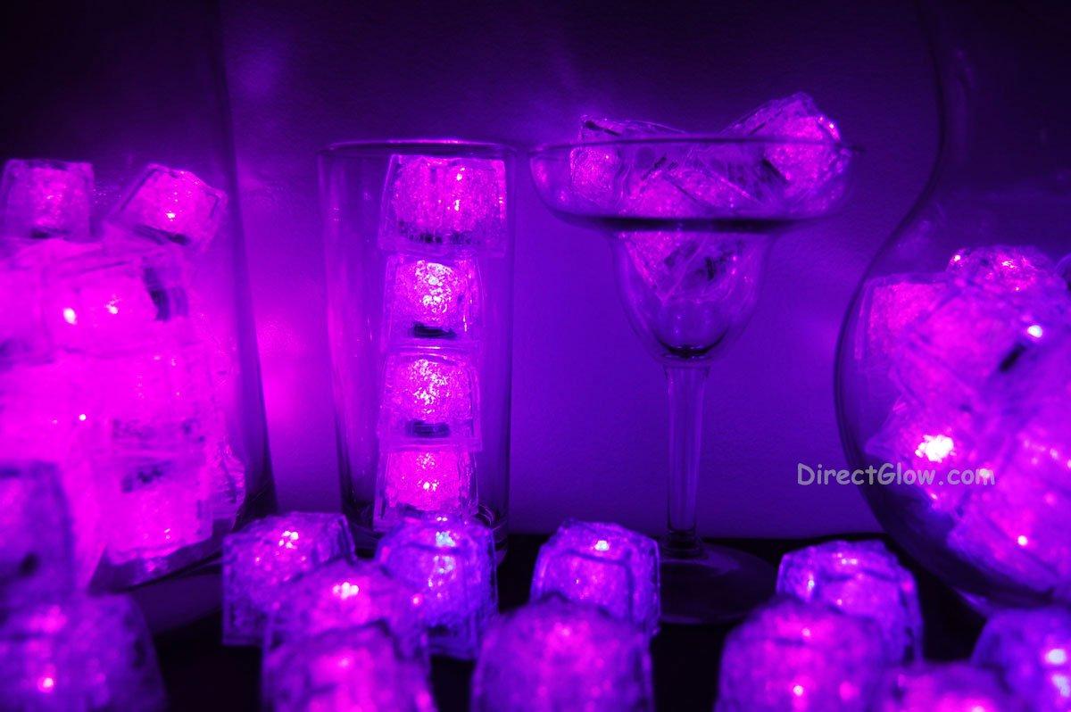 Set of 96 Pink Litecubes Brand Light up LED Ice Cubes