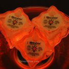 Set of 6 Orange Litecubes Brand Light up LED Ice Cubes