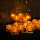 Set of 24 Yellow Litecubes Brand Light up LED Ice Cubes