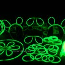 "100- 8"" Green Glow Stick Bracelets Party Pack"