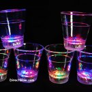 Set of 6 MultiColor LED Light Up Shot Glasses