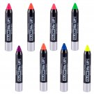 PaintGlow UV Blacklight Reactive Body Paint Sticks 8pc Variety Pack