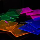 Blacklight Reactive 6.5 Inch Square Twist Plastic Party Plates- 10 ct.