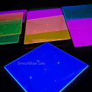 Blacklight Reactive 9.5 Inch Square Twist Plastic Party Plates- 10 ct.