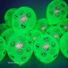 100 Pack Neon Yellow 11 inch UV Blacklight Reactive Latex Emoji Balloons