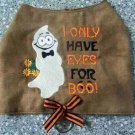 EYES FOR BOO Halloween Dog Harness Shirt