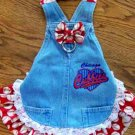 CHICAGO CUBBIES Dog Overall Harness Dress