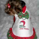 DEAR SANTA Christmas Dog Clothes Dress XS-SM