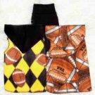 Football SNUGGLY Vest Dog Clothes: XXS - MED