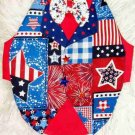 Patriotic Patchwork TUXEDO Dog Clothes Vest - Sz SM