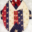 Stars & Stripes TUXEDO Dog Clothes Vest - Sz SM