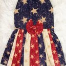 Stars & Stripes Dog Clothes: Dress - XS, SM