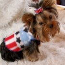 Patriotic 4th of July Dog Clothes Snuggly Vest - XXS, XS, SM or Med.