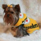 NFL Pittsburgh Steelers Football Dog Clothes Snuggly XS or SM (Med)