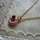 Sweet Strawberry Pink Donut Necklace