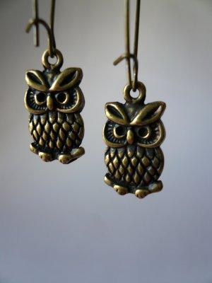 Little Brass Owl Earrings