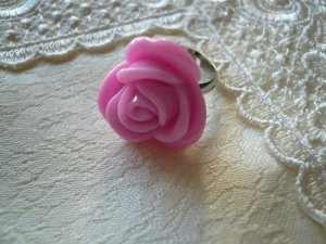 Candy Pink Rosa Flower Ring
