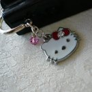 Kitty Cat Rose Pink Crystal Bookmark