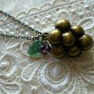 Amethyst Grape Fruit Locket Necklace