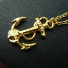 Bon Voyage Gold Sea Anchor Necklace