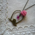 Birdie's Pink Rose Garden Necklace