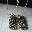 Little Antique Silver Owl Earrings