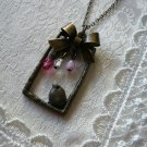 SONGBIRD Bird & Ribbon Charm Necklace