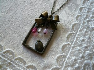 SONGBIRD Bird & Ribbon Charm Necklace