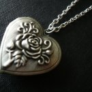 ROSES Floral Heart Locket Necklace