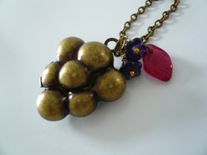 Grape Berry Fruit Locket Necklace