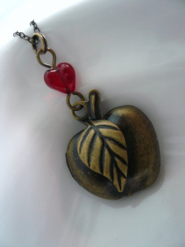 APPLE Fruit Locket Necklace