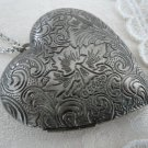 Foliage Heart Locket Long Necklace