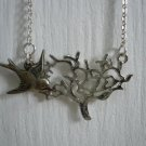 Bird & Tree Necklace 