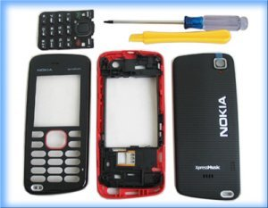 Red Full Housing faceplate shell cover for Nokia 5220