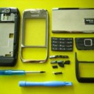 Nokia E66 Replatement Housing Cover Silver Black