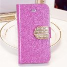 Shiny Mobile Phone Case Cellphone Cover With Card Sleeve For Iphone 5