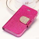 Shiny Mobile Phone Case Cellphone Cover With Card Sleeve For Iphone 4 4s