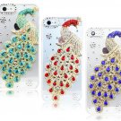 Gorgeous peacock Bling Diamond Handmade Mobile Phone Case Cover For Apple iPhone 5