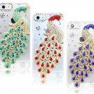 Gorgeous peacock Bling Diamond Handmade Mobile Phone Case Cover For Apple iPhone 4/4s