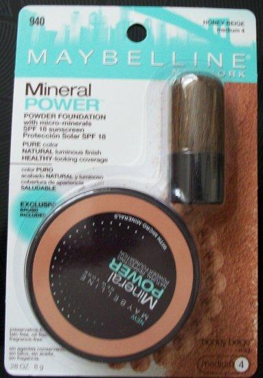 Maybelline Mineral Powder Foundation- Honey Beige, Medium 4