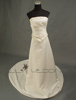 Silk Satin Wedding Dress - Style LWD0015